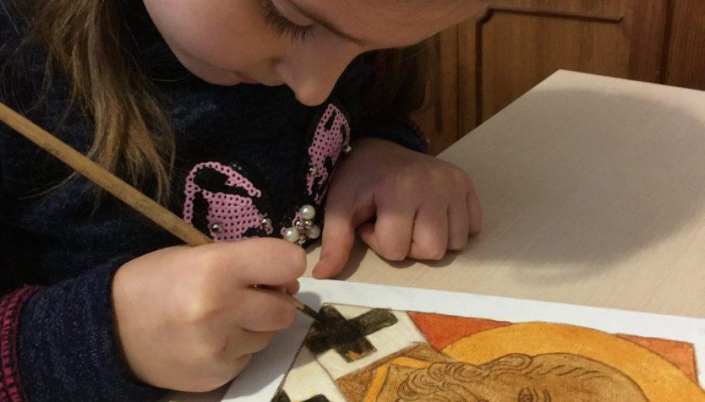 Діти пишуть ікони